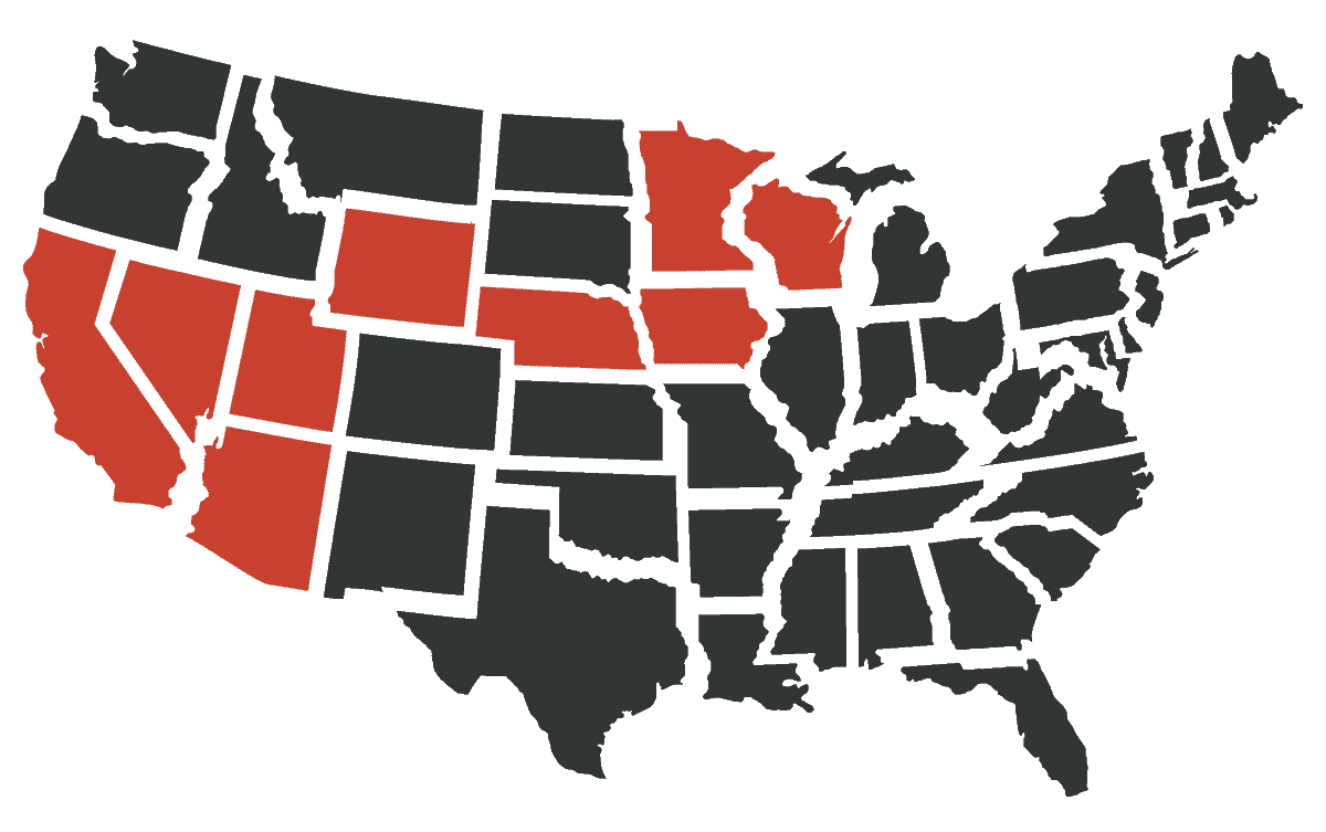 United States Coverage Area for Gurstel Law Firm